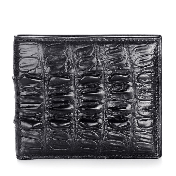 Crocodile Tail Skin Wallet, Vintage Crocodile Bifold Wallet