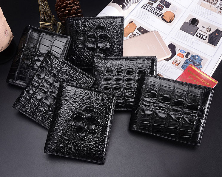 Crocodile Wallets Exhibition-Black