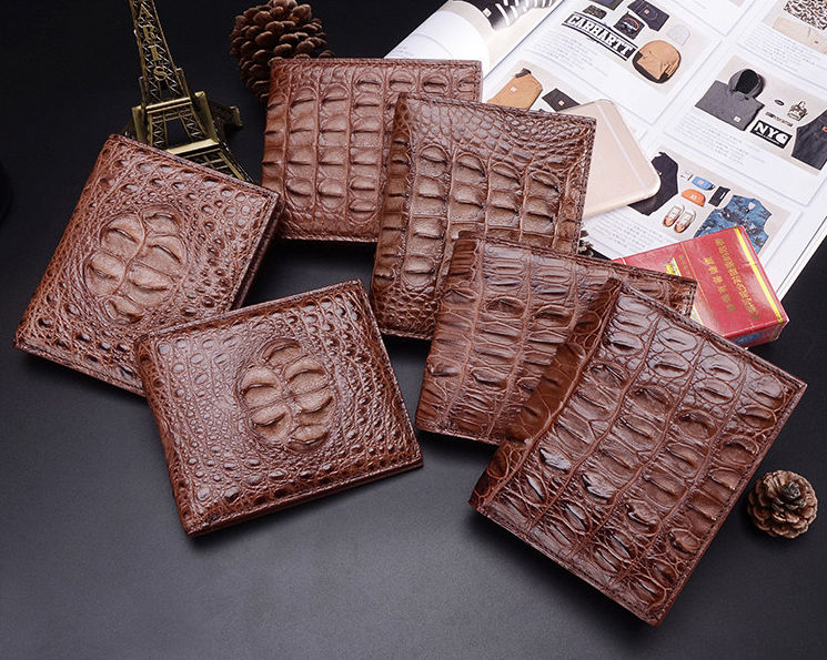 Crocodile Wallets Exhibition-Brown