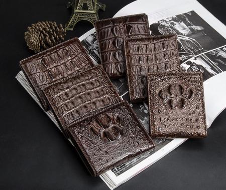 Crocodile Wallets Exhibition-Dark Brown