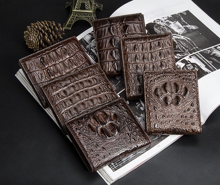 Crocodile Wallets Exhibition-Dark Brown