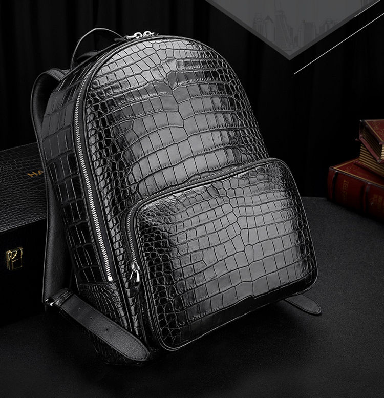 Genuine Alligator Skin Backpack-Exhibition
