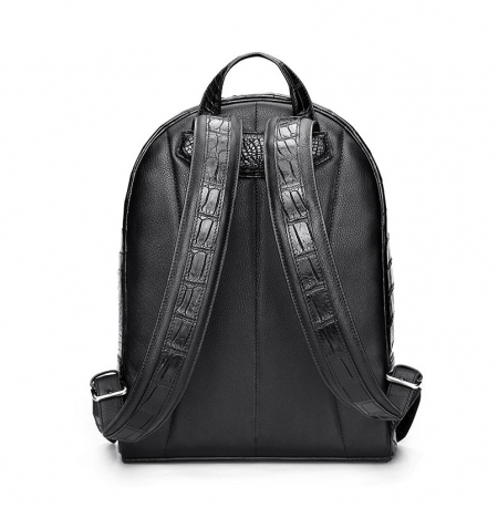 Genuine Alligator Skin Backpack, Luxury Backpack for Men-Back