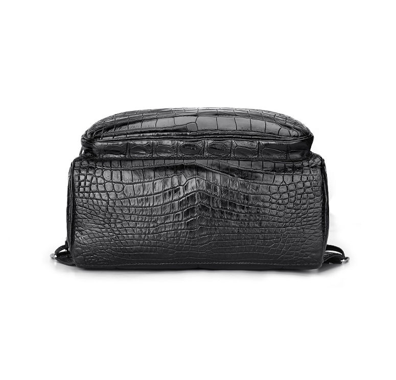 Genuine Alligator Skin Backpack, Luxury Backpack for Men-Bottom