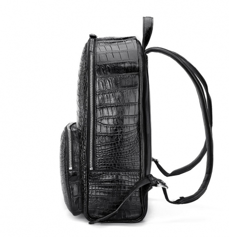 Genuine Alligator Skin Backpack, Luxury Backpack for Men-Side