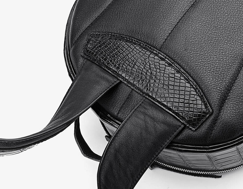 Genuine Alligator Skin Backpack, Luxury Backpack for Men-details