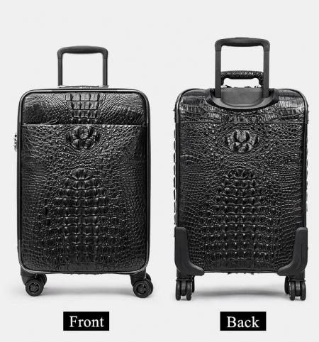 Genuine Crocodile Leather Luggage Bag Business Trolley Travel Bags