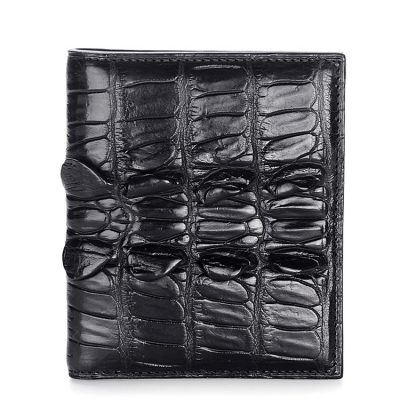Genuine Crocodile Tail Skin Wallet, Unique Crocodile Leather Wallet for Men
