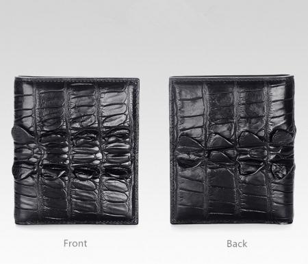 Genuine Crocodile Tail Skin Wallet, Unique Crocodile Leather Wallet for Men-Details