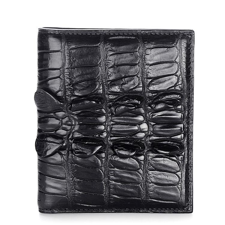 Genuine Crocodile Tail Skin Wallet, Unique Crocodile Leather Wallet for Men