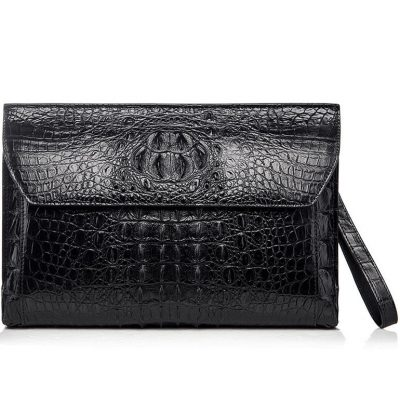Handmade Crocodile Skin Clutch Wallet Business Portfolio Briefcase Envelope Clutch Bag