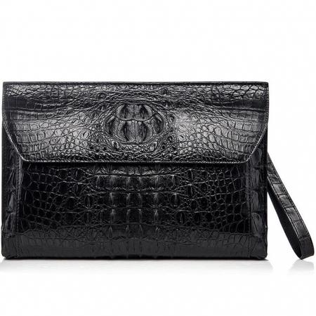 Handmade Crocodile Skin Clutch Wallet Business Portfolio Briefcase Envelope Clutch Bag