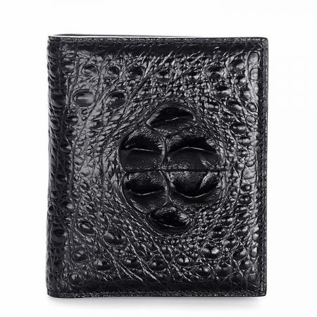 Handmade Genuine Crocodile Leather Wallet-Black