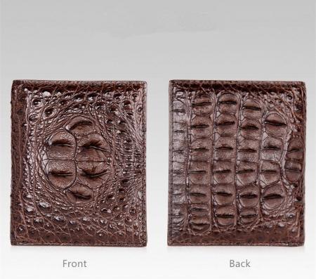Handmade Genuine Crocodile Leather Wallet-Details