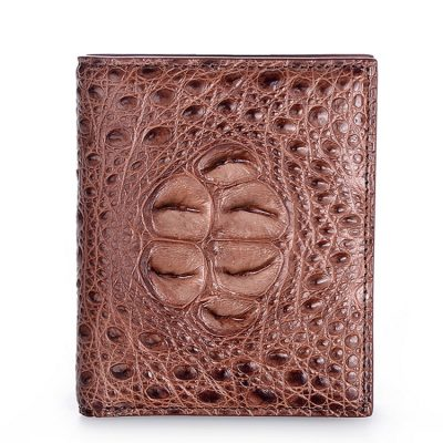 Handmade Genuine Crocodile Leather Wallet-Brown