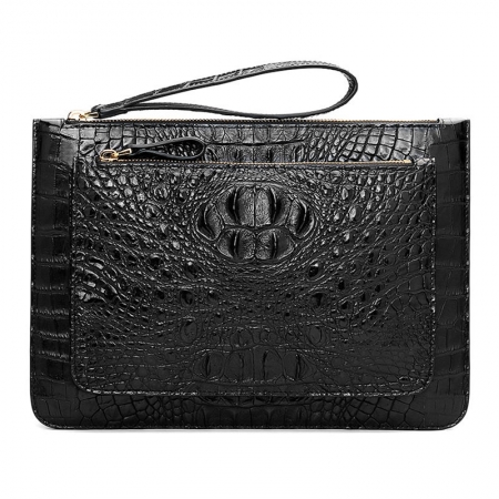 Large Stylish Crocodile Clutch Wallet, Envelope Flap Briefcase Purse Clutch Bag
