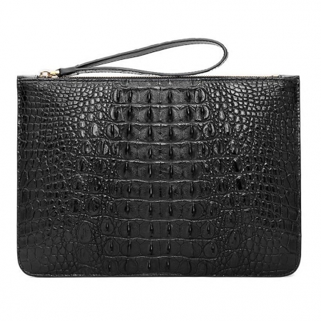 Large Stylish Crocodile Clutch Wallet, Envelope Flap Briefcase Purse Clutch Bag-Back