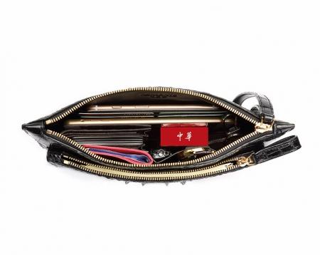 Large Stylish Crocodile Clutch Wallet, Envelope Flap Briefcase Purse Clutch Bag-Inside