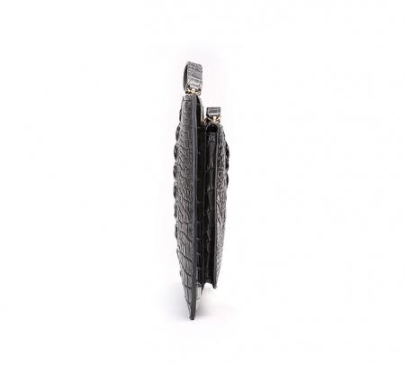 Large Stylish Crocodile Clutch Wallet, Envelope Flap Briefcase Purse Clutch Bag-Side