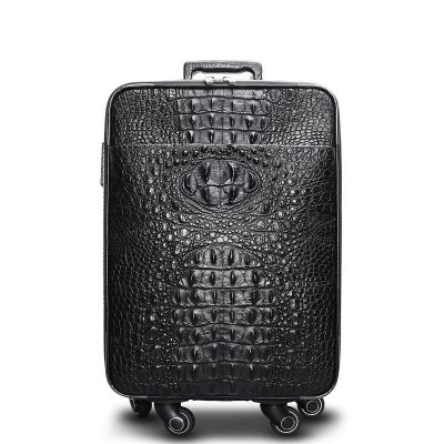 Luxury Genuine Crocodile Leather Luggage Bag Business Trolley Travel Bag