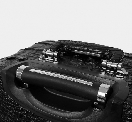 Luxury Genuine Crocodile Leather Luggage Bag Business Trolley Travel Bag-Handle