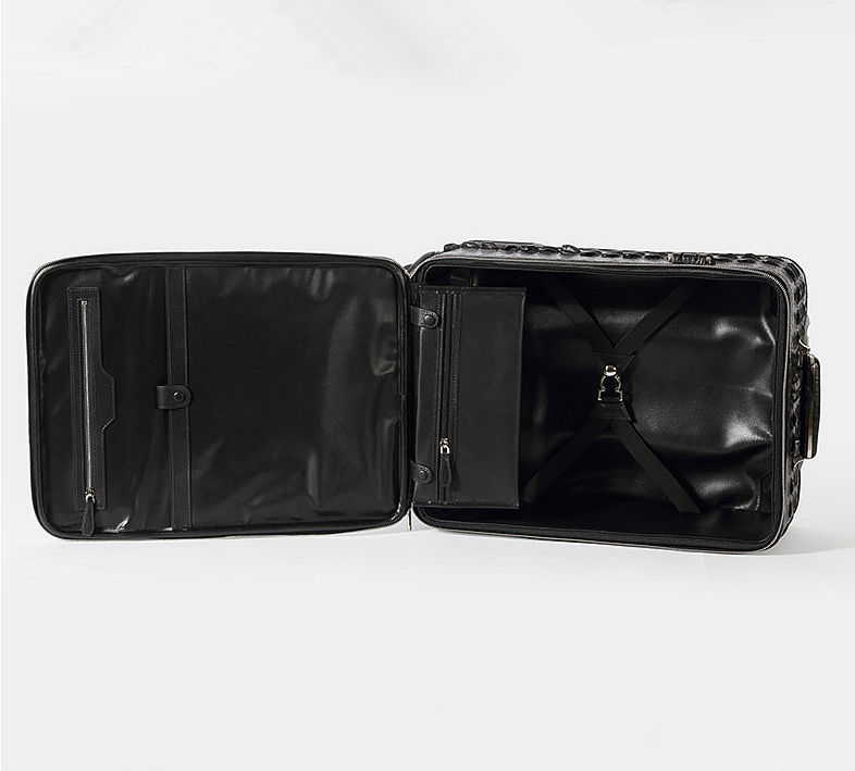 Luxury Genuine Crocodile Leather Luggage Bag Business Trolley Travel Bag-Inside-2