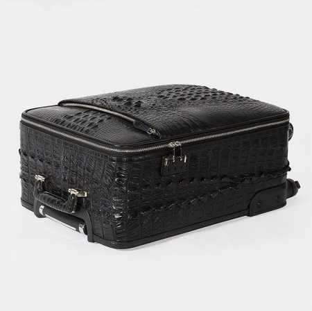 Luxury Genuine Crocodile Leather Luggage Bag Business Trolley Travel Bag-Lay