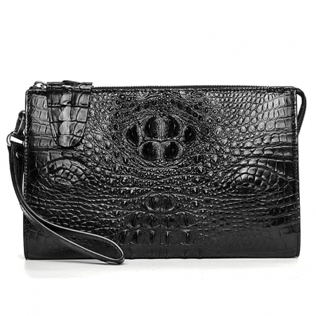 Men's Business Crocodile Clutch Bag, Stylish Crocodile Clutch Wallet