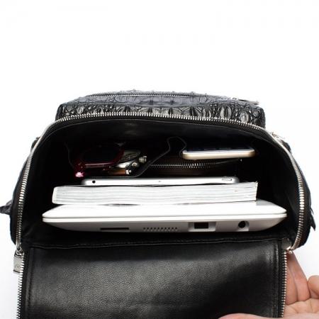 Men's Genuine Crocodile Skin Backpack, Casual Travel Bag Extra Capacity Casual Daypacks-Inside