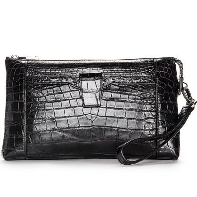Men Alligator Clutch Wallet Business Zipper Long Card Holder Phone Purse