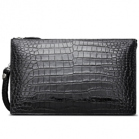 Mens Genuine Alligator Skin Big Clutch Bag Wristlet Handbag Organizer Wallet