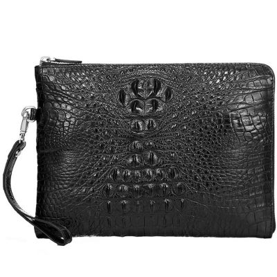 Premium Crocodile Leather Clutch Wallet With Wrist Strap