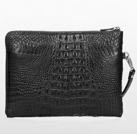 Premium Crocodile Leather Clutch Wallet With Wrist Strap-Back