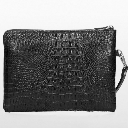Premium Crocodile Leather Clutch Wallet With Wrist Strap-Back