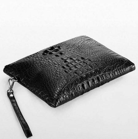 Premium Crocodile Leather Clutch Wallet With Wrist Strap-Lay