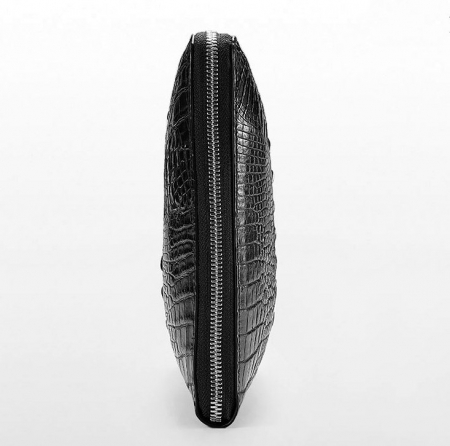 Premium Crocodile Leather Clutch Wallet With Wrist Strap-Side