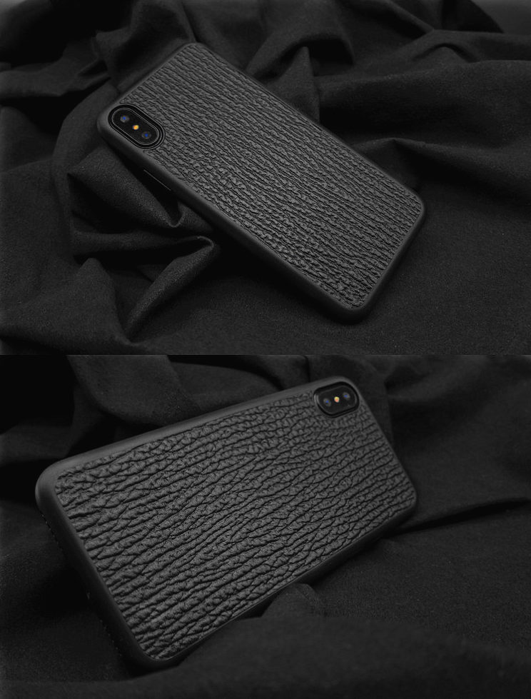 Shark Skin iPhone X Case-Exhibition