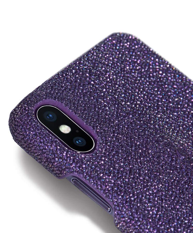 Stingray Leather iPhone X Case-Bright Purple-1