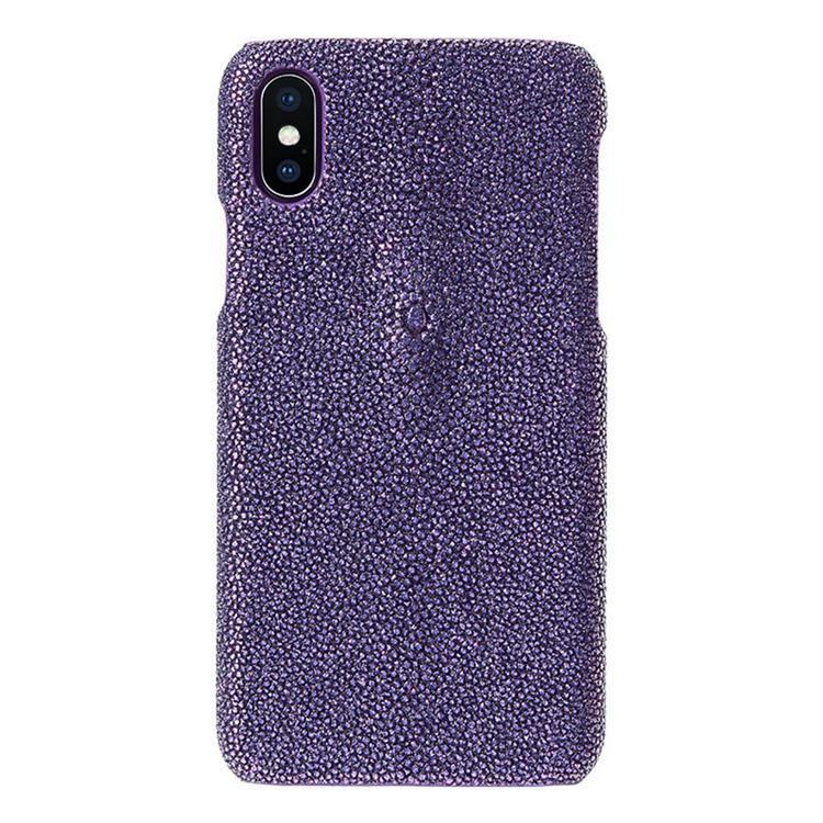 Stingray Leather iPhone X Case-Bright Purple