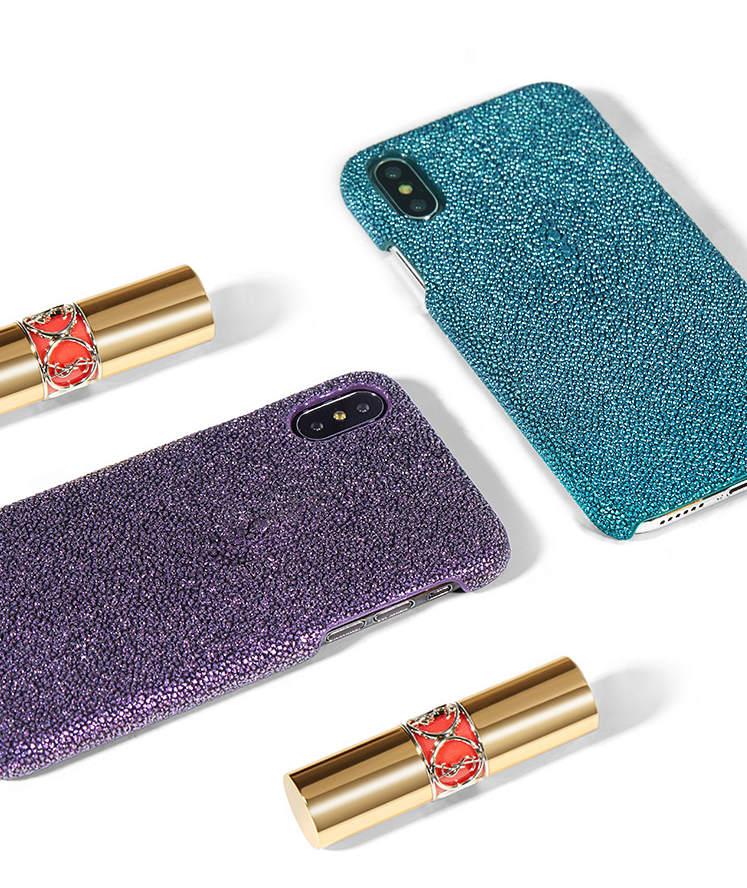 Stingray Leather iPhone X Case-Exhibition-1