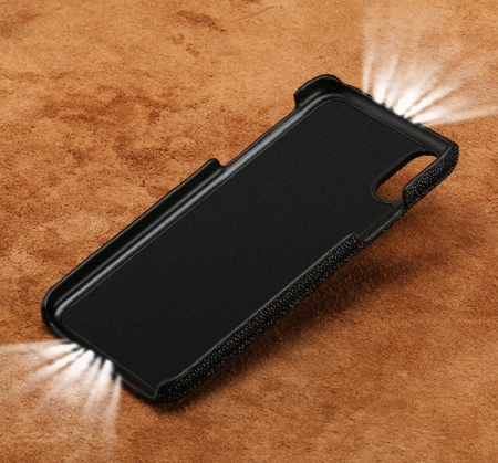 Stingray Leather iPhone X Case-Inside