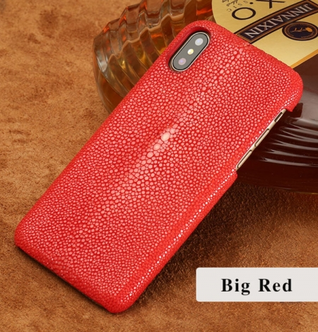 Stingray Leather iPhone X Case-Red