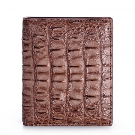 Stylish Crocodile Backbone Skin Bifold Wallet