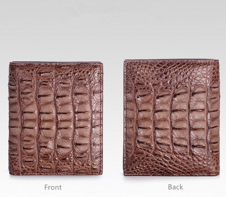 Stylish Crocodile Backbone Skin Bifold Wallet-Details