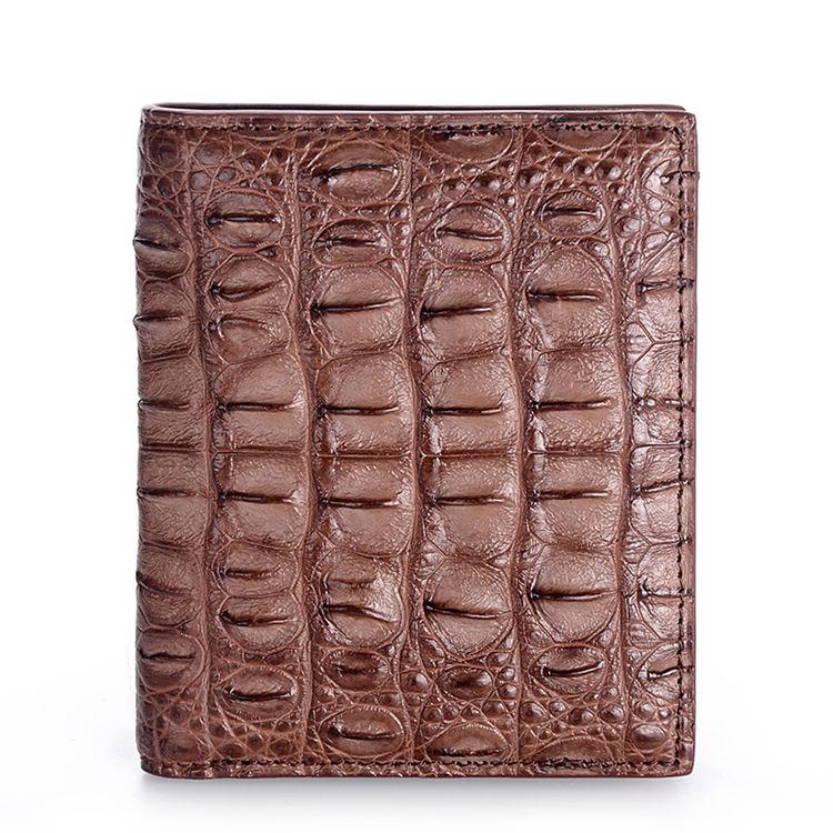 Stylish Crocodile Backbone Skin Bifold Wallet