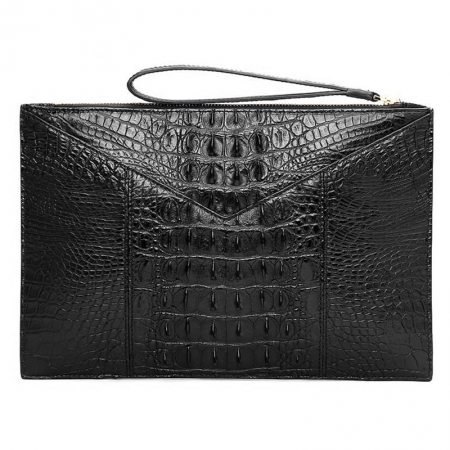 Stylish Crocodile Clutch Bag, Crocodile Clutch Wristlet Wallet for Men-Back