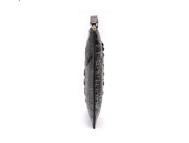 Stylish Crocodile Clutch Bag, Crocodile Clutch Wristlet Wallet for Men-Side