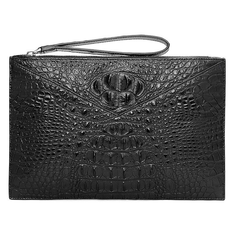 Stylish Crocodile Clutch Bag, Crocodile Clutch Wristlet Wallet for Men
