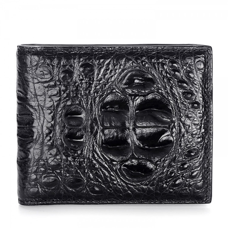 Unique Genuine Crocodile Hornback Skin Wallet for Men