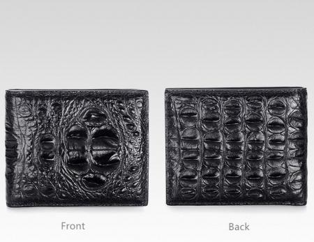 Unique Genuine Crocodile Hornback Skin Wallet for Men-Details